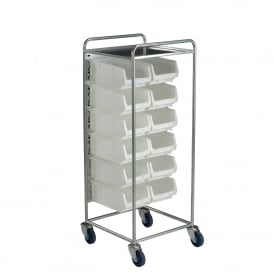 Container Trolley with 12 TOPSTORE Picking Containers