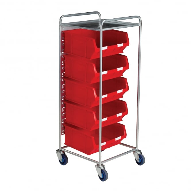 Container Trolley with 5 TOPSTORE Picking Containers