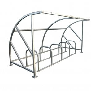 Curved Bike Shelter - Up to 10 Bikes