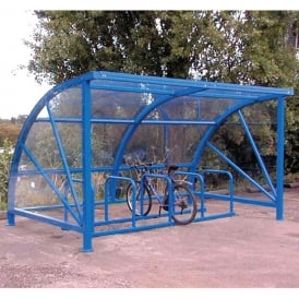 Curved Bike Shelter with or without Toast Rack