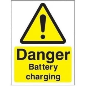 Danger Battery Charging Sign