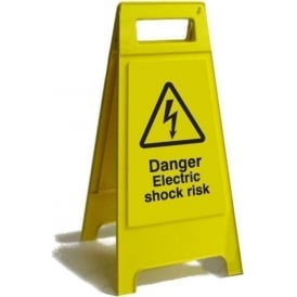 Danger Electric Shock Risk Free Standing Floor Sign