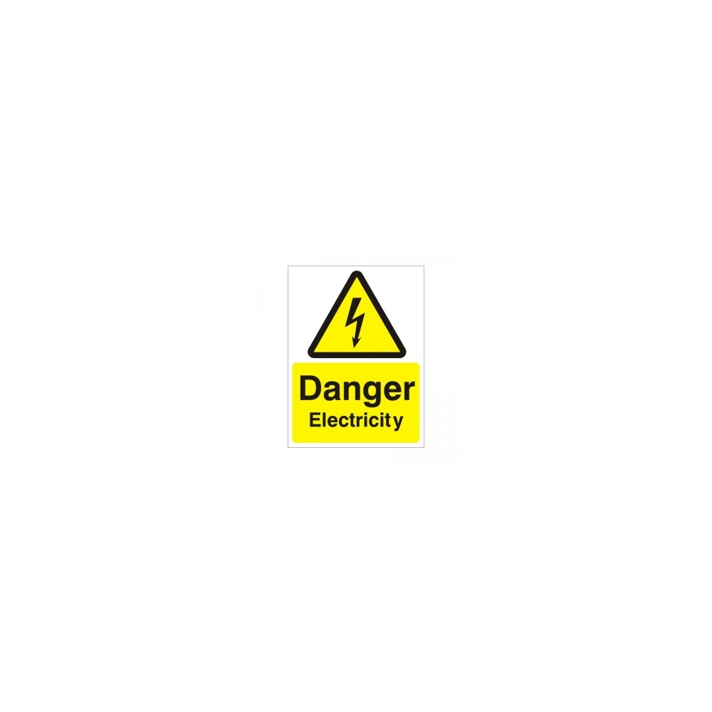 Danger Electricity Sign - Electrical Signs from PARRS UK