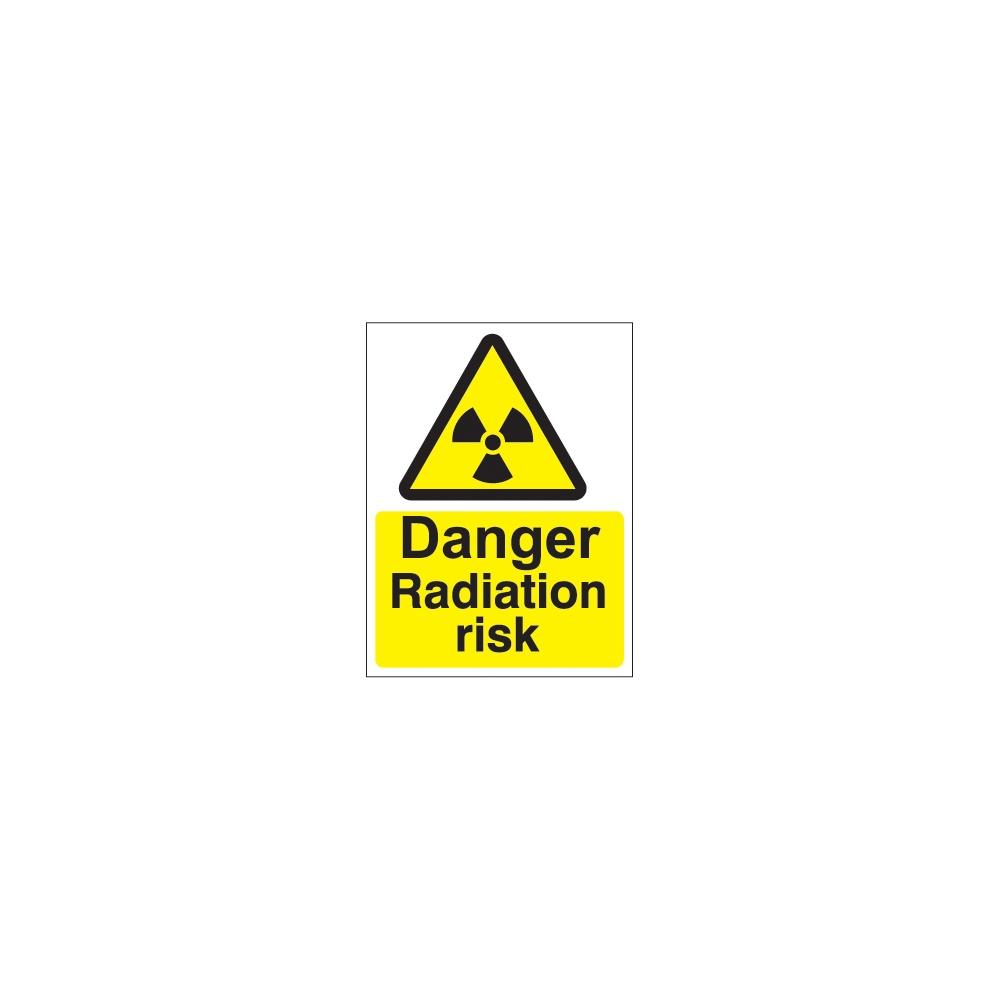 Warning Sign DANGER Radiation risk 300 x 200mm Safety Signs