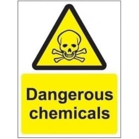 Dangerous chemicals sign