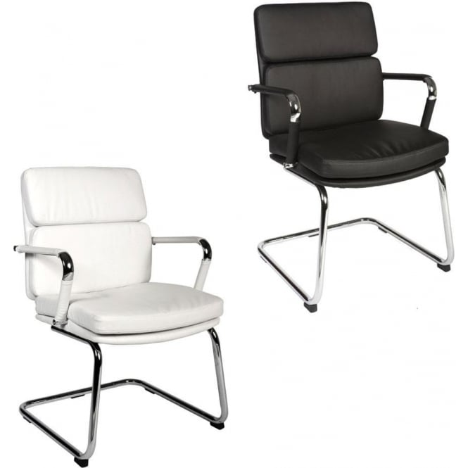 Deco Faux Leather Side Chairs