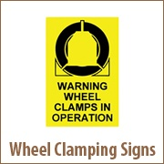 Wheel Clamping Signs