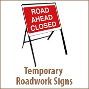 Temporary Roadwork Signs