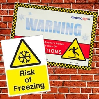 Ice Warning Signs