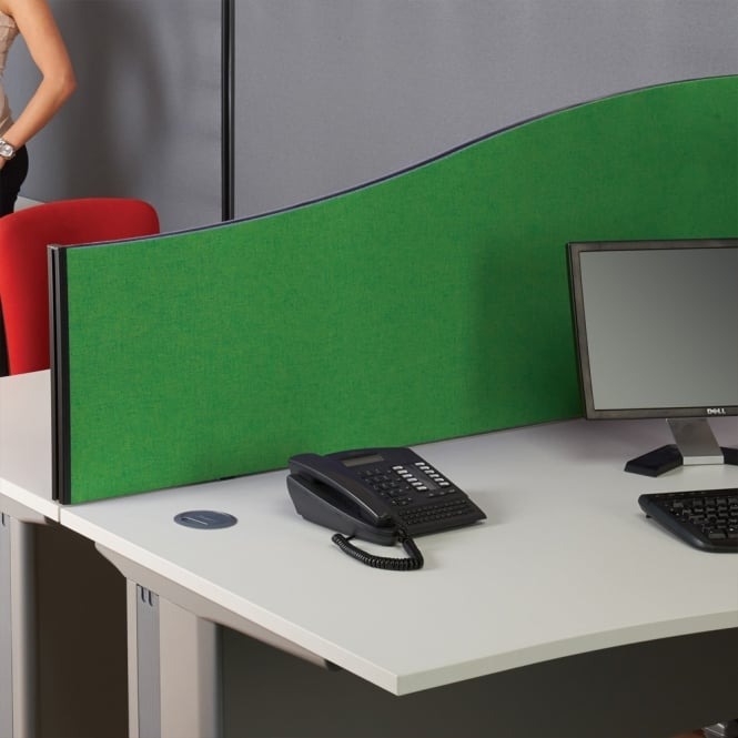 Desk Acoustic Screen System - Wave