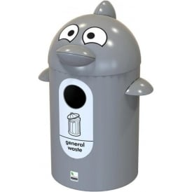 Dolphin Buddy Novelty Recycling Bin Cap: 55lt