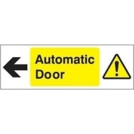 Door Sign: Automatic door arrow left