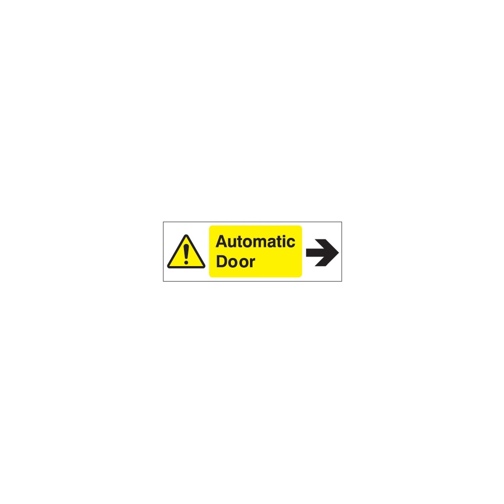 Door Sign Automatic Door Arrow Right Signs Identification From
