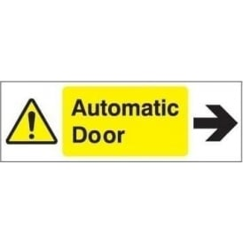 Door Sign: Automatic door arrow right