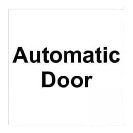 Door Sign: Automatic door