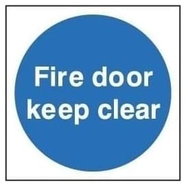 Door Sign: Fire Door Keep Clear