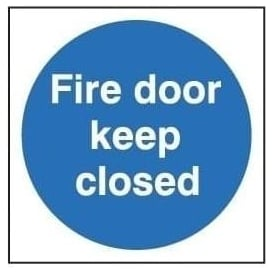 Door Sign: Fire Door Keep Closed