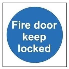 Door Sign: Fire Door Keep Locked
