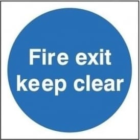 Door Signs: Fire Exit Keep Clear