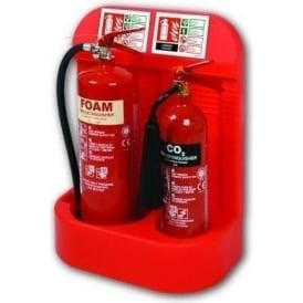 Double Fire Extinguisher Stand with Recessed Base