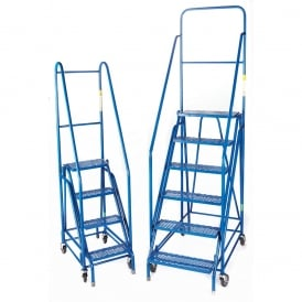 Double Frame Steel Mobile Safety Steps