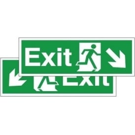 Double Sided Hanging Sign - Fire Exit