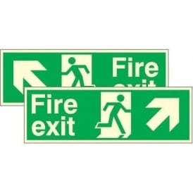 Double Sided Hanging Sign - Photoluminescent Fire Exit