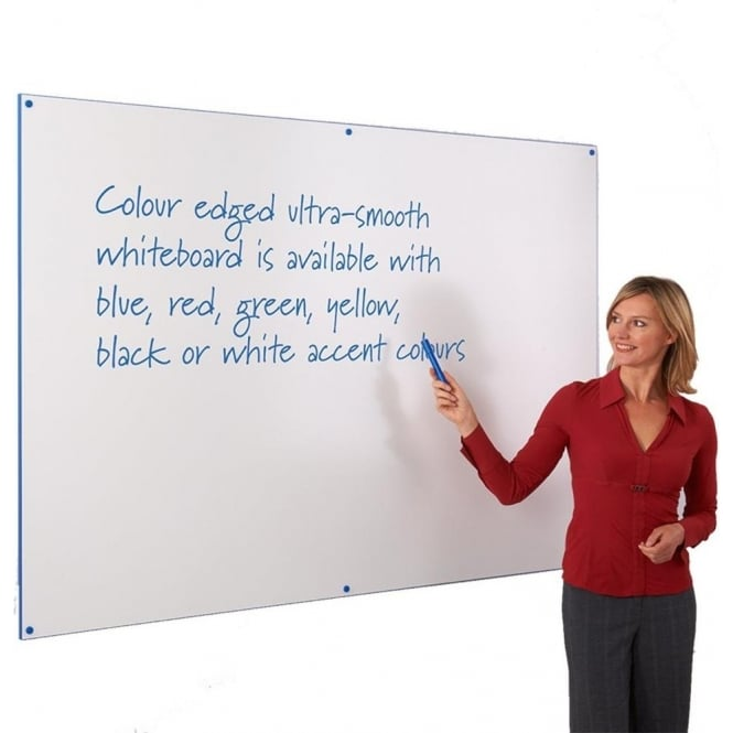 Dry-Wipe White Boards with Coloured Edging
