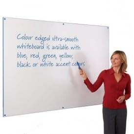 Dry Wipe White Boards with Coloured Edging