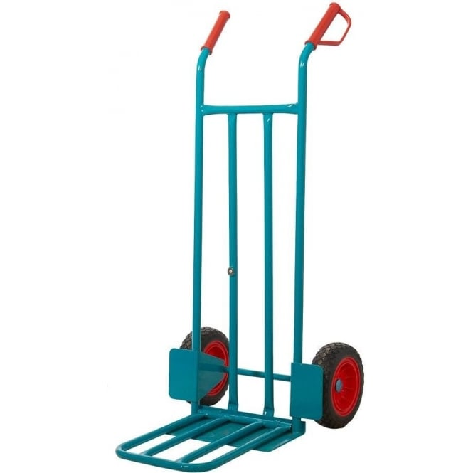 Dual Foot-iron Steel Sack Truck with REACH compliant wheels Cap: 250kg