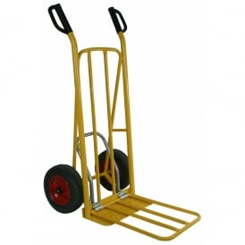 Easy Tip Steel Sack Truck D Handles with Pneumatic or Puncture Proof tyres Cap: 250kg