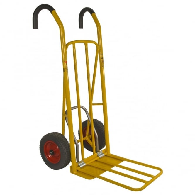 Easy Tip Steel Sack Truck Ergonomic Handles with Pneumatic or Puncture Proof tyres Cap: 250kg