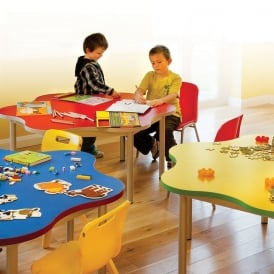 Enviro Early Years Tables: Daisy, Bean, Trapezoidal, Round & Rectangular