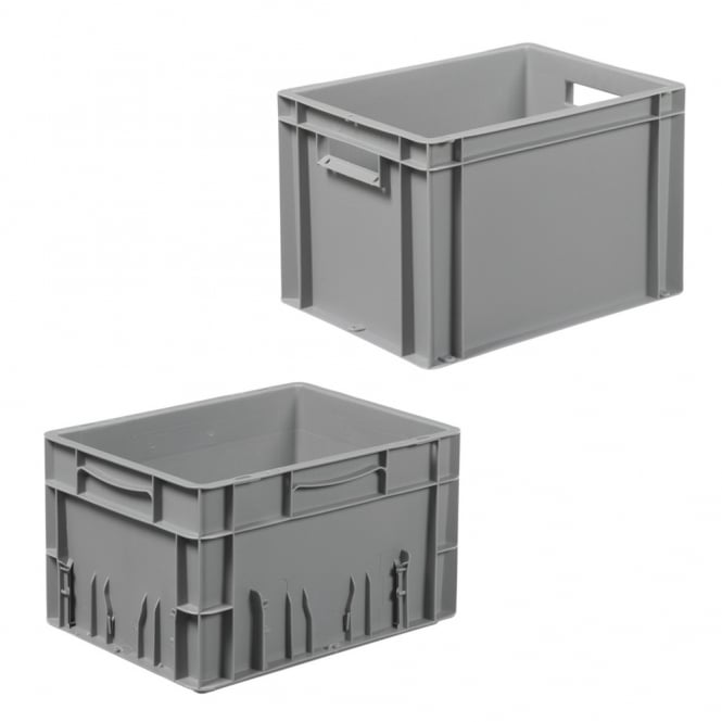 Euro Containers with solid sides and base