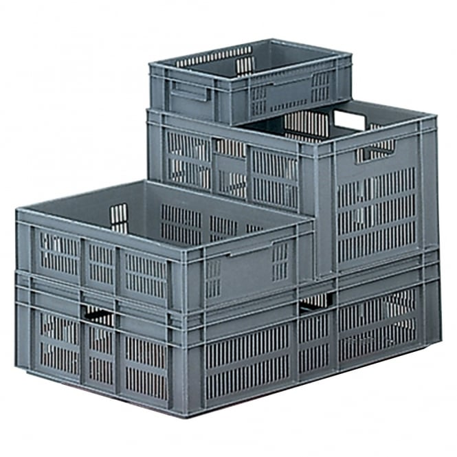 Euro Containers with ventilated sides & solid base
