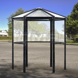 Executive Hexagonal Smoking Shelter