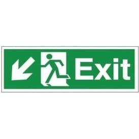 Exit - Arrow Down Left Signs