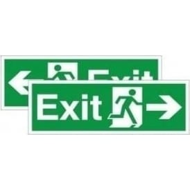 Exit running man arrow - Double Sided Hanging Sign