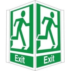 Exit running man - Double Sided Sign