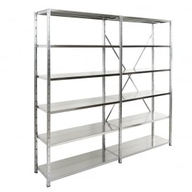 Expo 3 Galvanised Boltless Shelving - 1500mm Wide