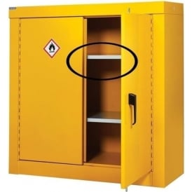 Extra Shelves for Hazardous Storage Security Cupboards