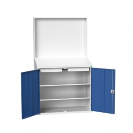 Facilities Information Workstation with Sloping Top & Magnetic Backboard