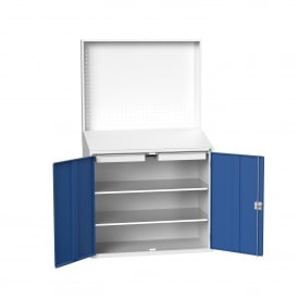 Facilities Tool Workstation with Sloping Worktop & Perforated Backboard