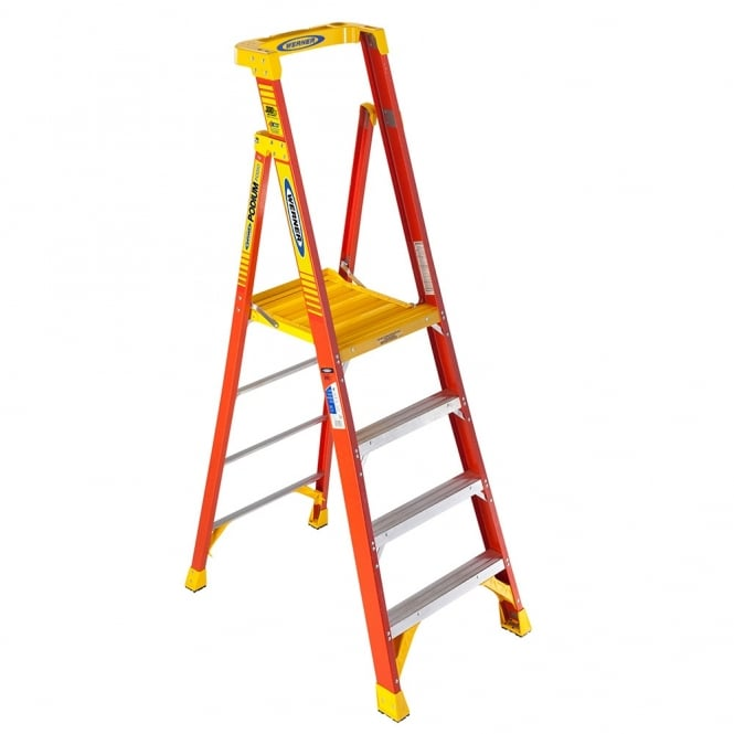 Fibreglass Podium Step Ladders 3 to 10 Tread