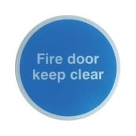Fire door keep clear Door Signs