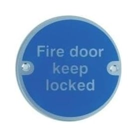 Fire door keep locked Door Signs