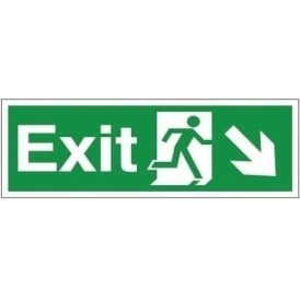 Fire Exit Arrow Down Right Signs