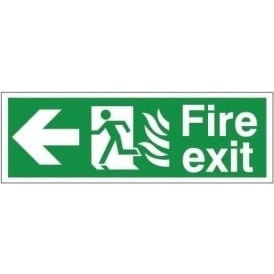 Fire Exit - Arrow Left Signs - Hospital Compliant
