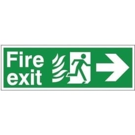 Fire Exit - Arrow Right Signs - Hospital Compliant