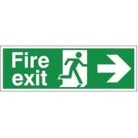 Fire Exit Arrow Right Signs